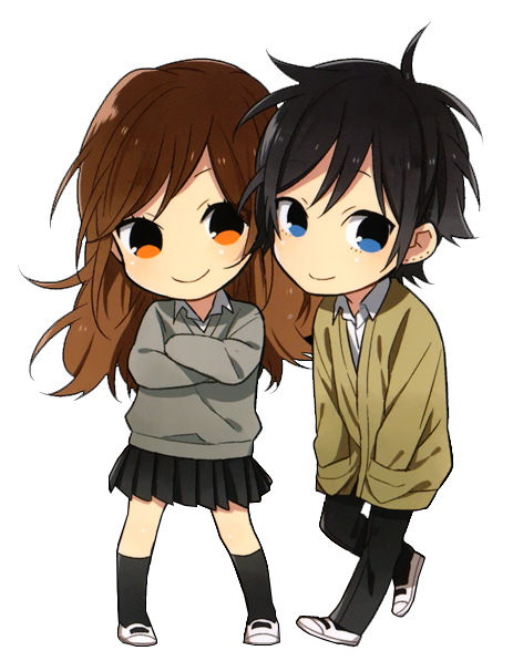 chibi-couple-cute-horimiya | ?3? | Pinterest | Chibi ...