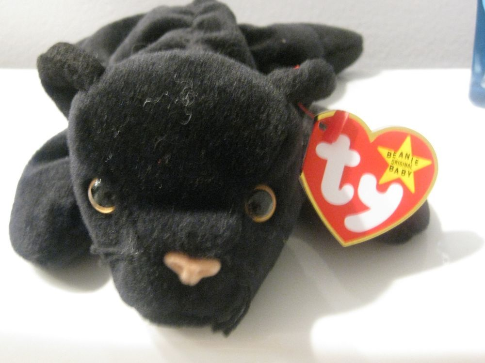 TY Beanie Babies - 4064 - VELVET - Black Panther 1996  Ty GIVE ME A HOME    0413728a0727