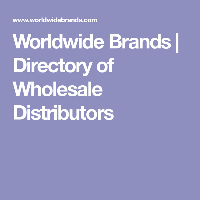 Directory Of Wholesale Distributors
