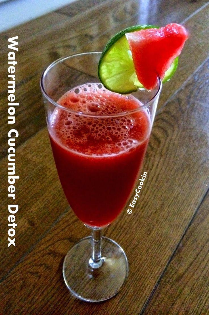 EasyCookin Watermelon Cucumber Detox Energy Juice