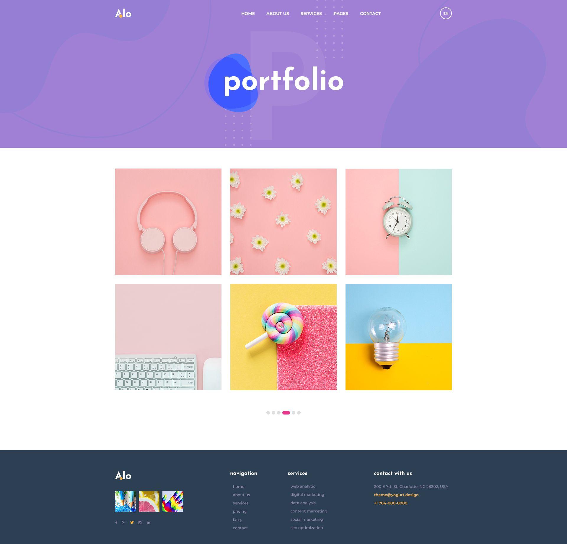 Alo Multipurpose Creative Psd Template Multipurpose Alo Creative Template With Images Psd Templates Templates Creative