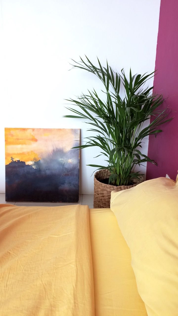 Plant, art, yellow, decoration | Casa | Pinterest
