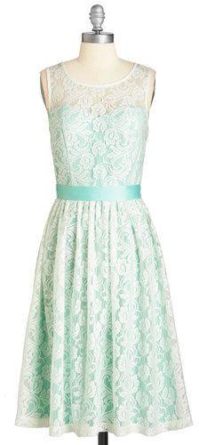 Mystic Fashion Lacy in Love Dress in Mint