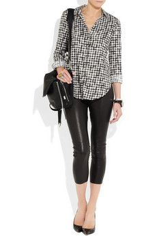 JOSEPH  Cropped stretch-leather leggings  $1,150