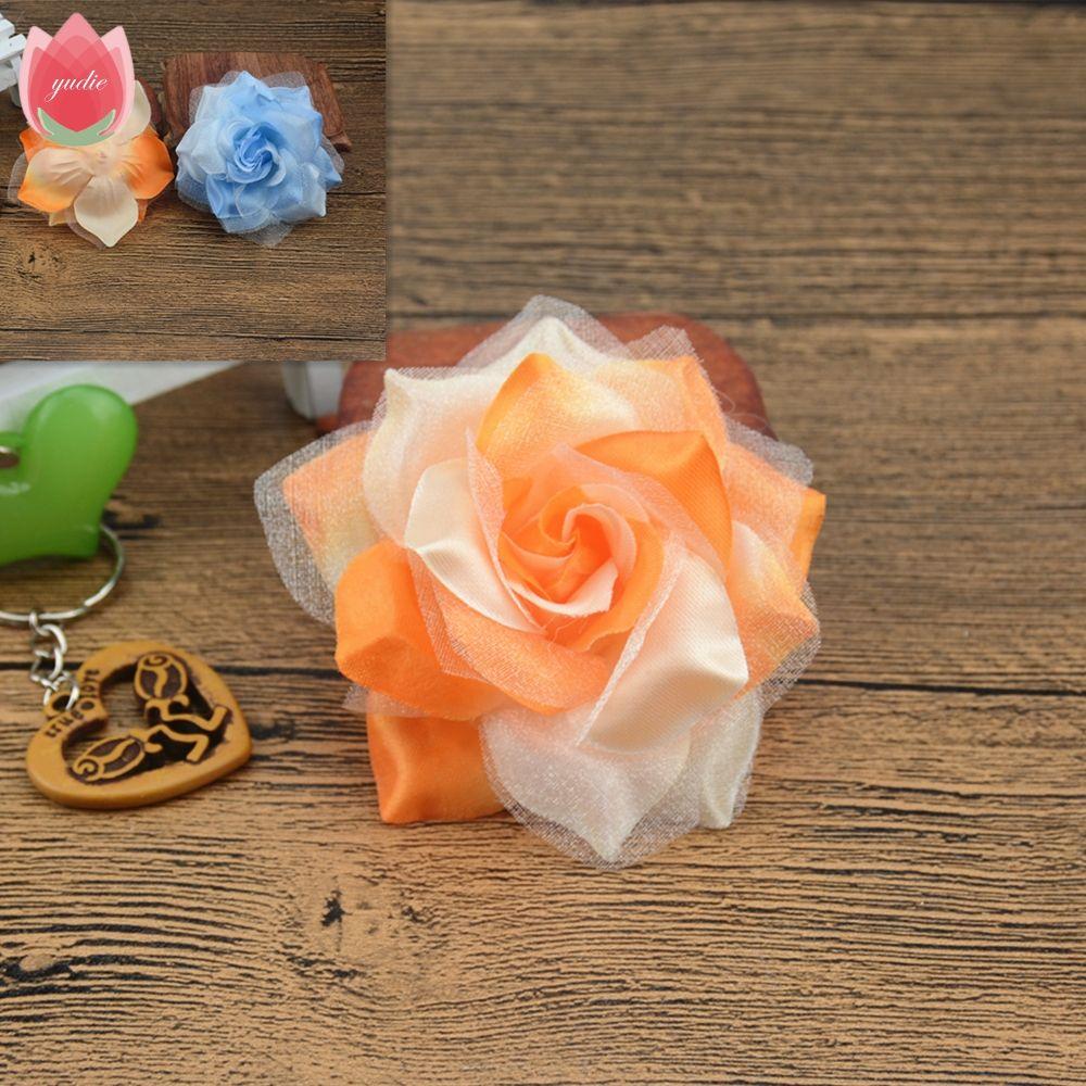 10pcs Large Silk Fire Rose Artificial Flower For Handmade Wedding
