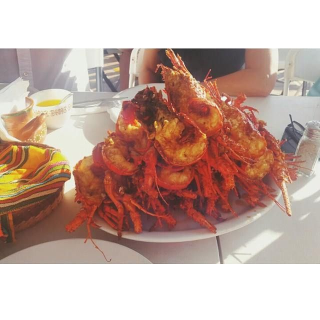 Tasty, crunchy, fried to perfection #PuertoNuevo Lobster! Can you handle it? come and get it today! Explore #BajaCalifornia - www.discoverbajacalifornia.com #summerlove (Adventure by Danna Reboredo)