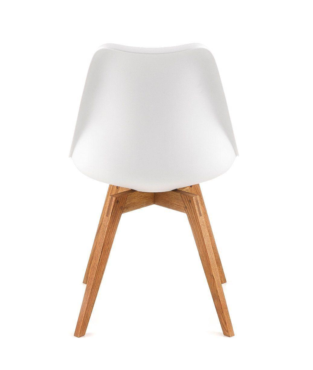 Malerisch Küchen Und Esszimmerstühle Referenz Von Designbotschaft: Davos Stuhl Weiß/grau/ Eiche - Esszimmerstühle