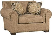 King Hickory Living Room Arthur Fabric Chair And A Half