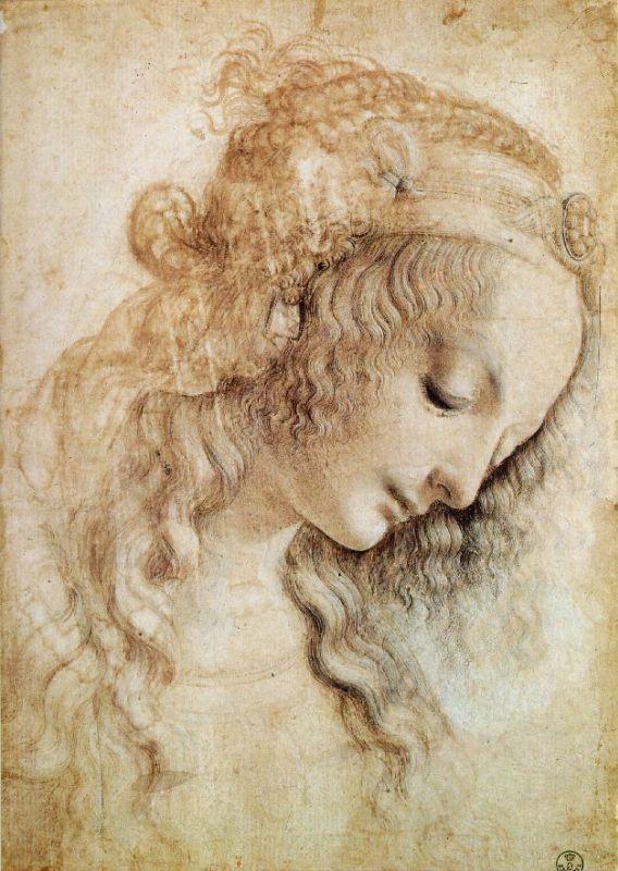 Леонардо да Винчи. Голова женщины | Популярное искусство, Леонардо да  винчи, Художники