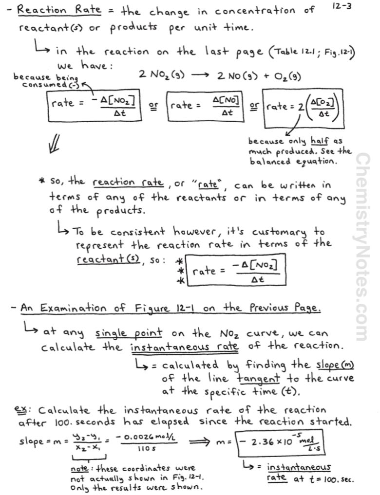 Chemical Kinetics and Rate Laws   Chemical kinetics [ 1017 x 780 Pixel ]
