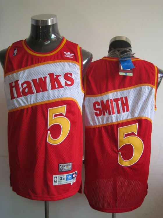 3fd707246bb Adidas NBA Atlanta Hawks 5 Josh Smith Soul Swingman Red Jersey | NBA ...