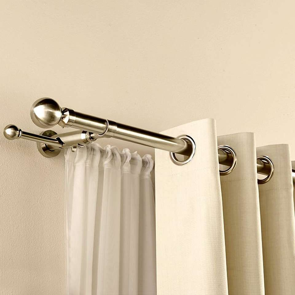 Dunelm Satin Silver Duo Curtain Pole | Curtain poles, Satin and ...