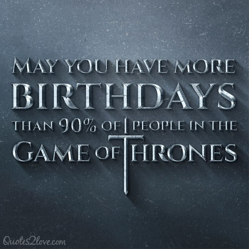 Game Of Thrones Happy Birthday!!