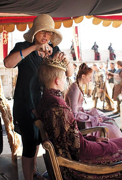 """SEASON 2 Jack Gleeson (Joffrey Baratheon) and Sophie Turner (Sansa Stark) share some out-of-character laughs. """"[Jack is] not like one of those Method actors that goes into a dark place,"""" says Turner. """"If he was one of those guys, he'd be horrible to work with."""""""