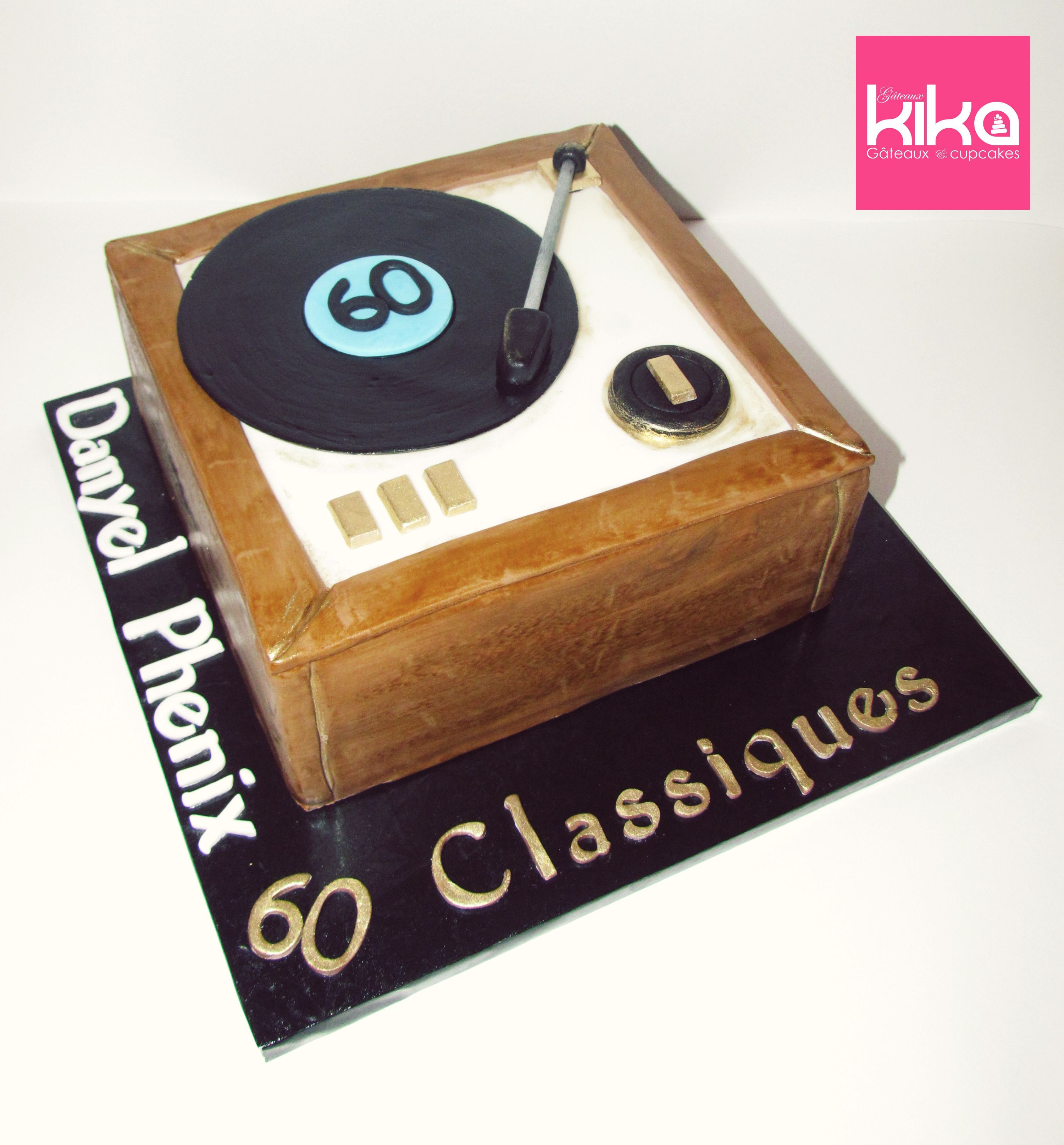 Gâteau Tourne Disque // Turntable cake #gateauxkika