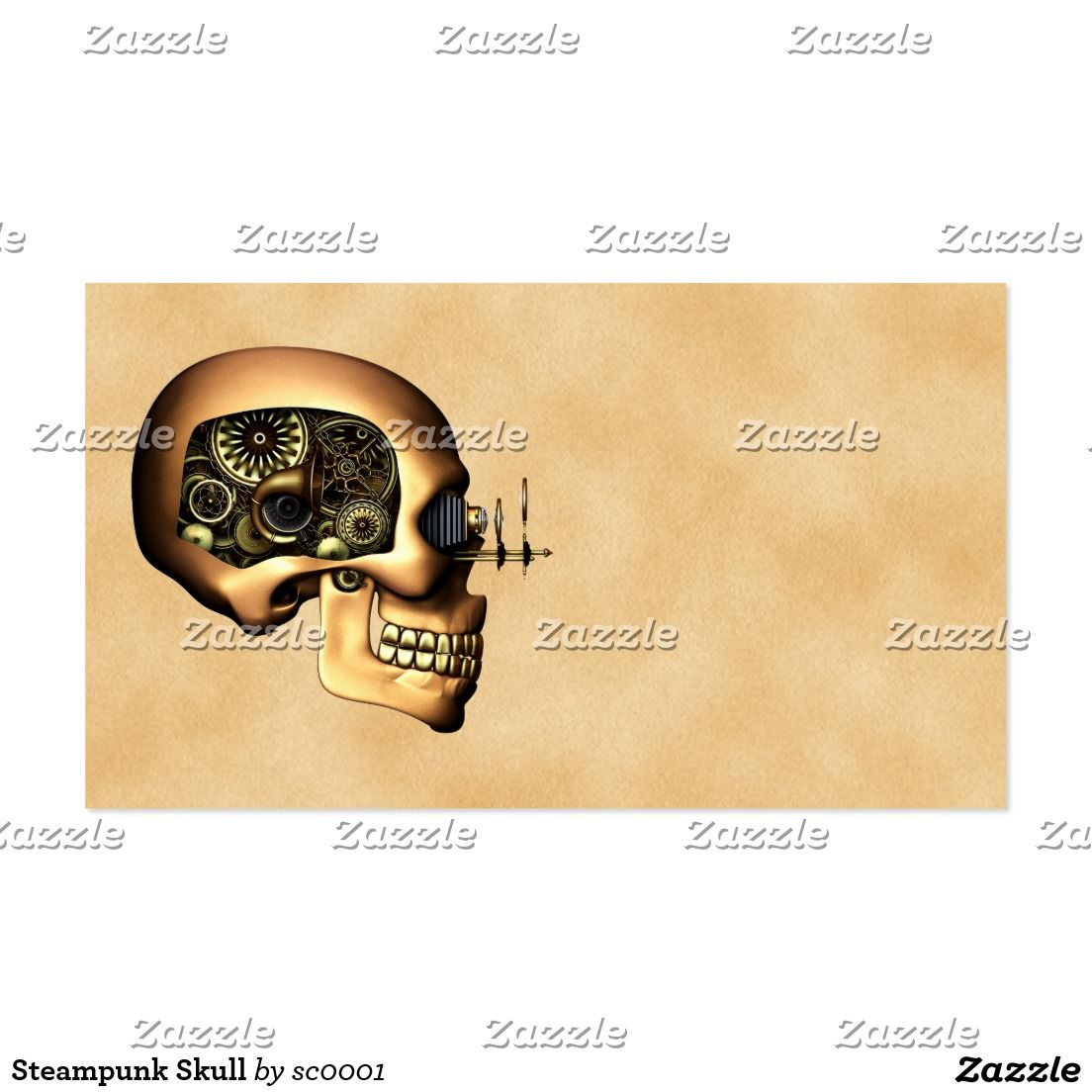 Steampunk Skull Business Card | Business cards and Business