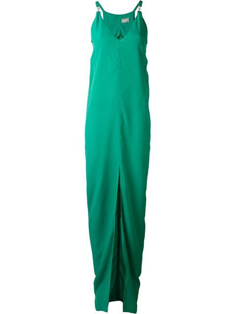 LANVIN V-Neck Evening Gown. #lanvin #cloth #gown