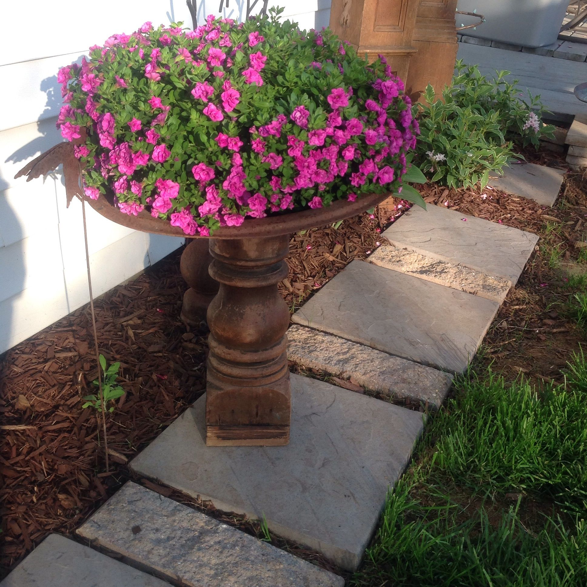 Old spindle plant holder...plant stand