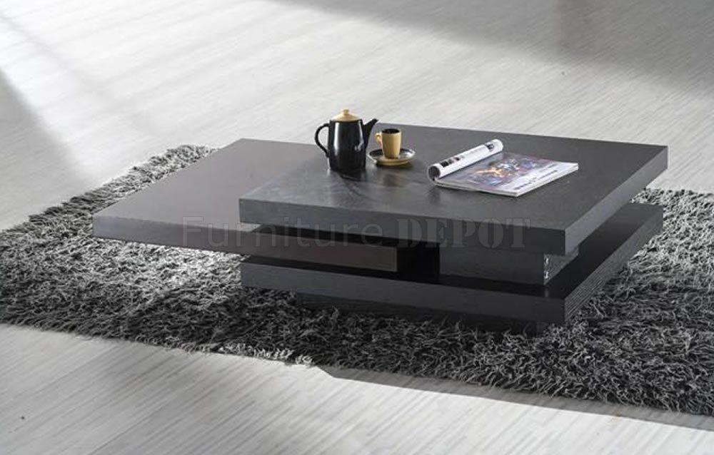 Genial Rotating Coffee Table... Love The Modern Look.