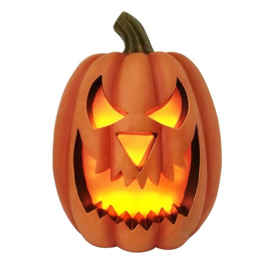 Holiday Living 23 82 Ft Lighted Battery Operated Dc Pumpkin Jack O Lantern Lowes Com Pumpkin Jack Jack O Lantern Jack O