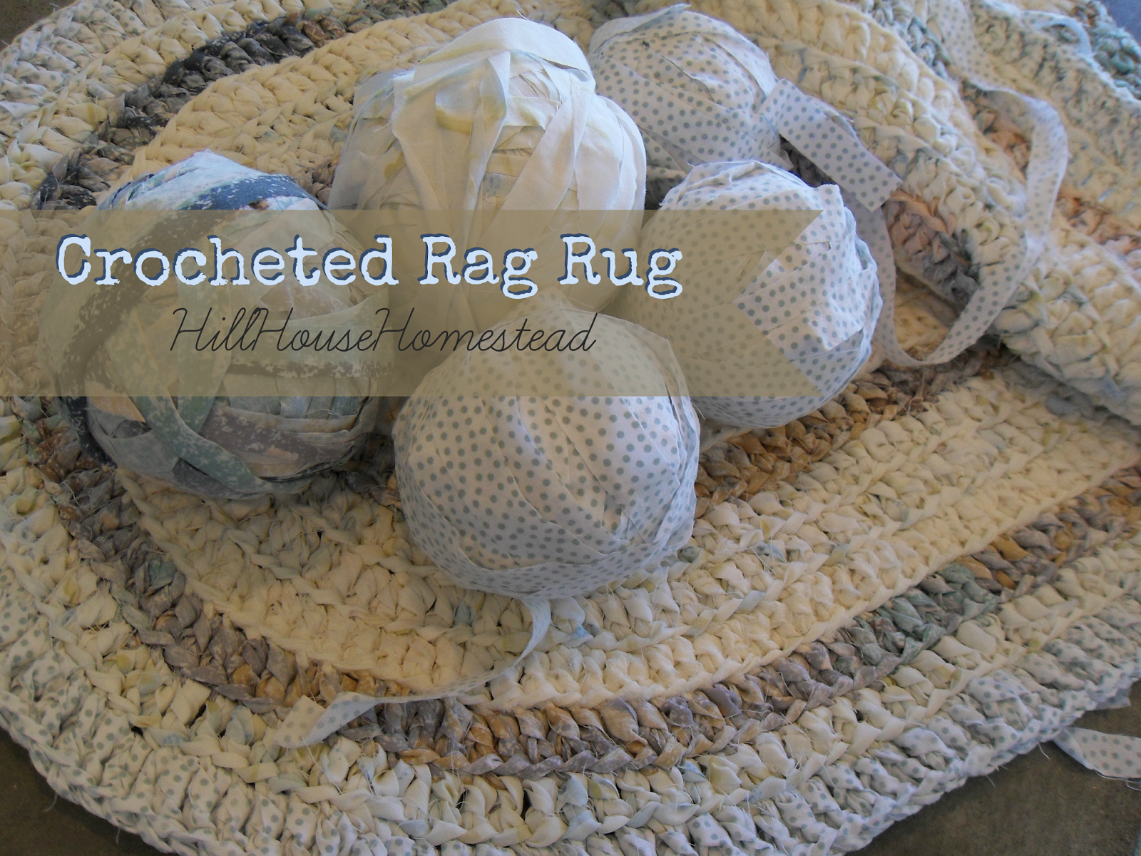 Hill House Homestead Crocheted Rag Rug