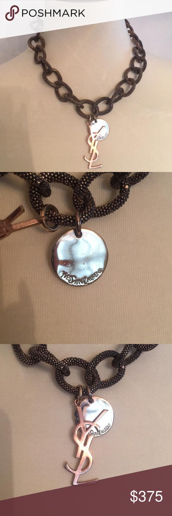 Authentic Yves Saint Laurent Chain Necklace Pinterest