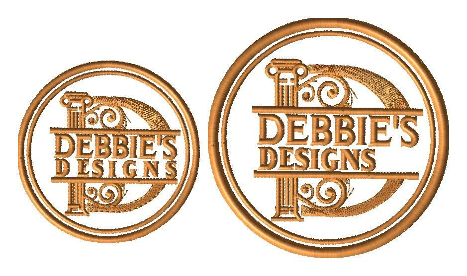 2 custom embroidery designs for DB - RMP Logo and Debbies