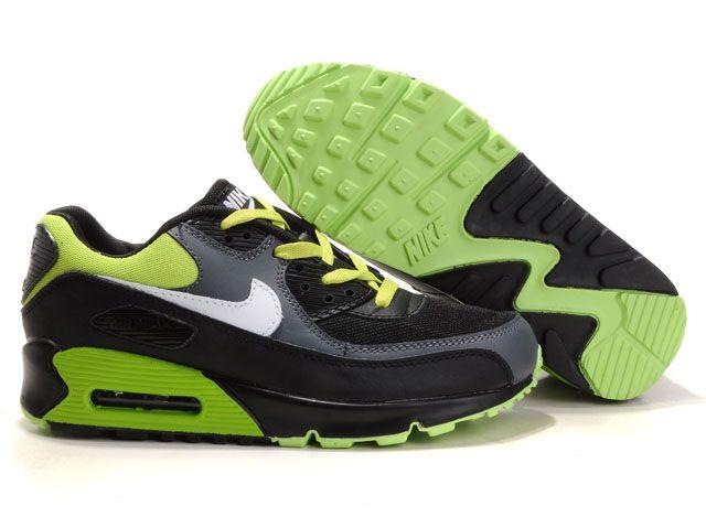 nike air max 90 groen zwart