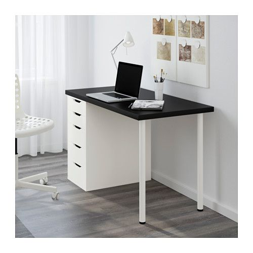 Linnmon Alex Table Brun Noir Blanc Ikea Home Office Desks Ikea Home Office Furniture