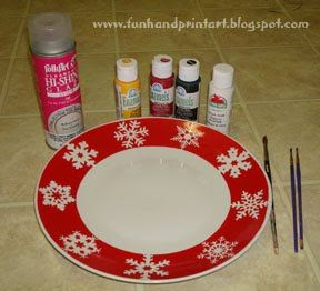 Footprint Penguin Santa Plate Tutorial for Christmas #mistletoesfootprintcraft