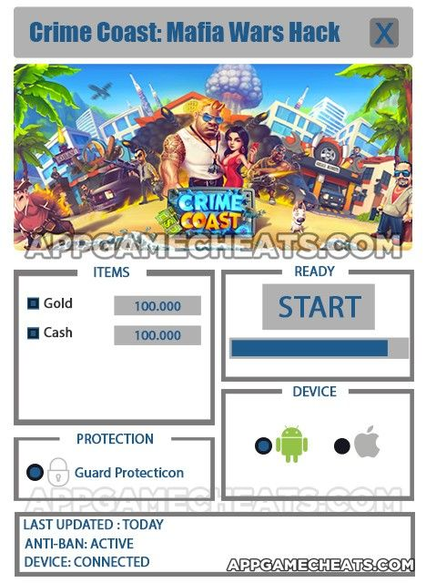CRIME COAST MAFIA WARS HACK FOR GOLD & CASH Download 2020