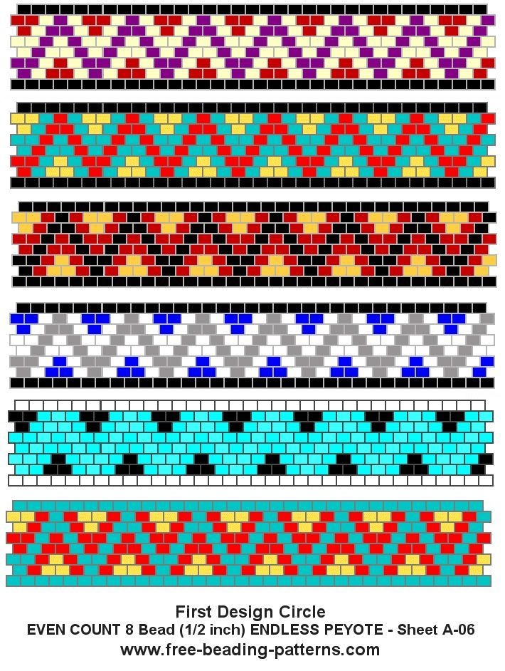 Easy odd count peyote stitch