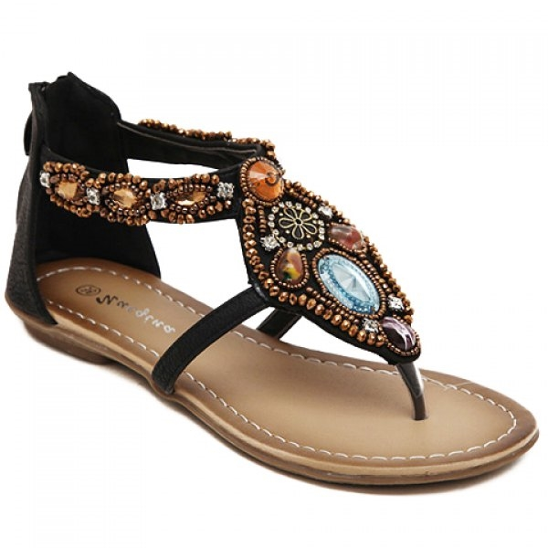 Casual Beading and Flip Flop Design Sandals For Women - BROWN Cheap 100% Guaranteed Choice Cheap Price Pay With Paypal Cheap Price vaJLx