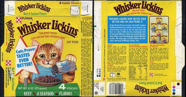 Tender Vittles Cat Food Beef Seafood Cat Food Box 1979