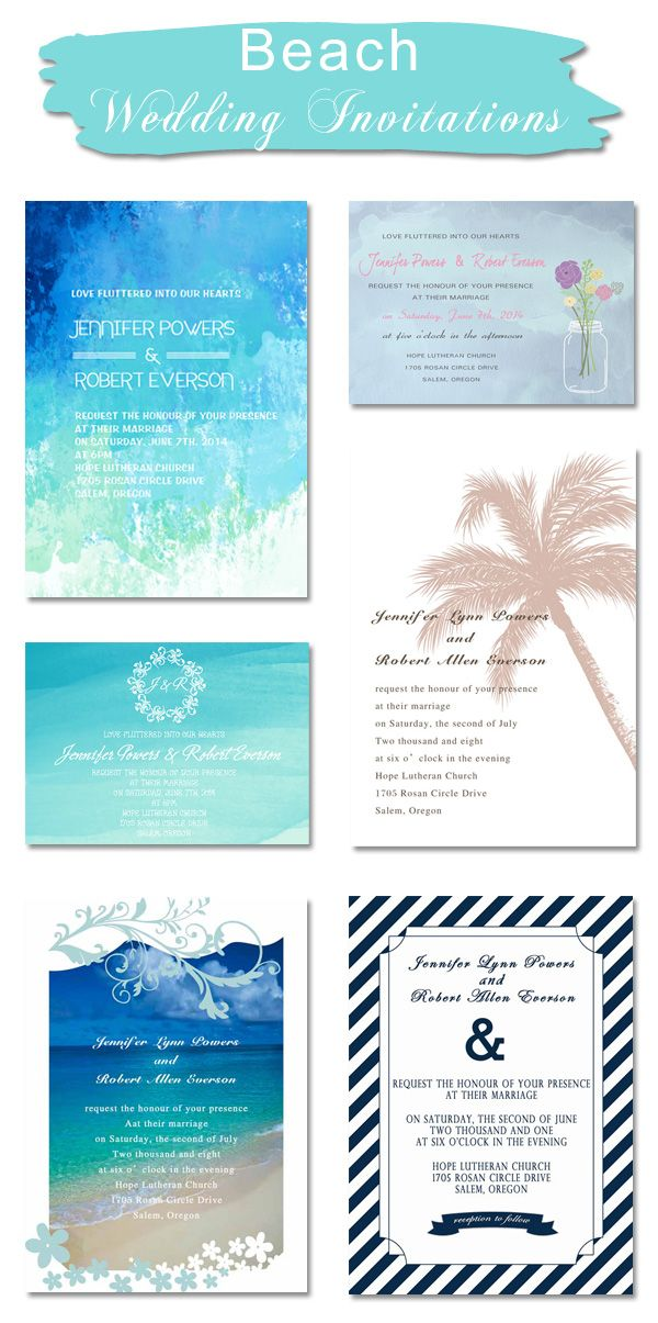 Beach and Nautical Themed Wedding Invitations | Pinterest | Summer ...