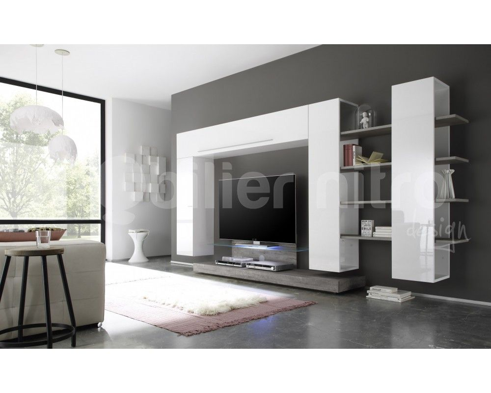 Impressionnant Mobilier Tv Design D Coration Fran Aise  # Composer Son Meuble Tv Mural