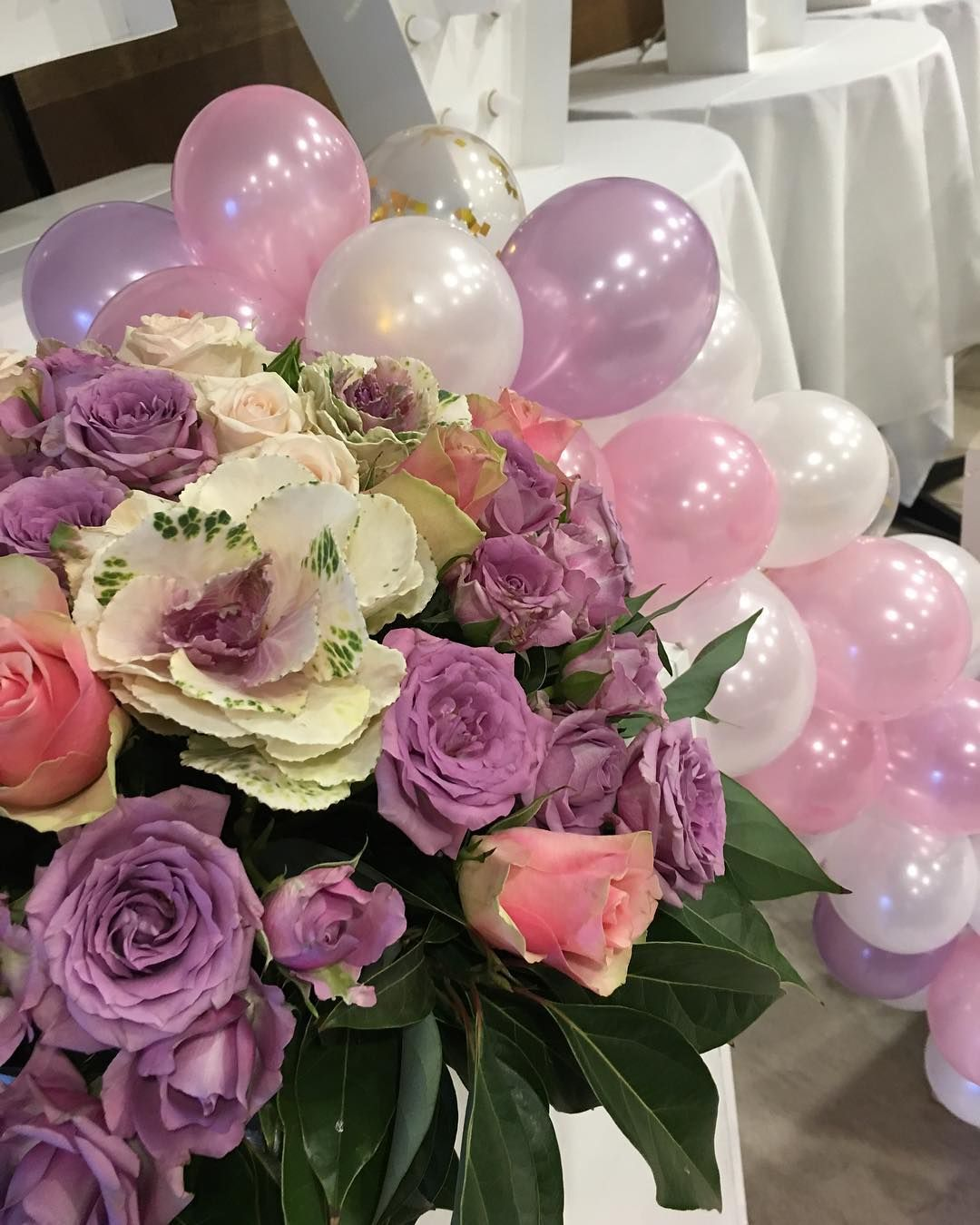 Pretty Christening setup today kaitlintannous Flowers and