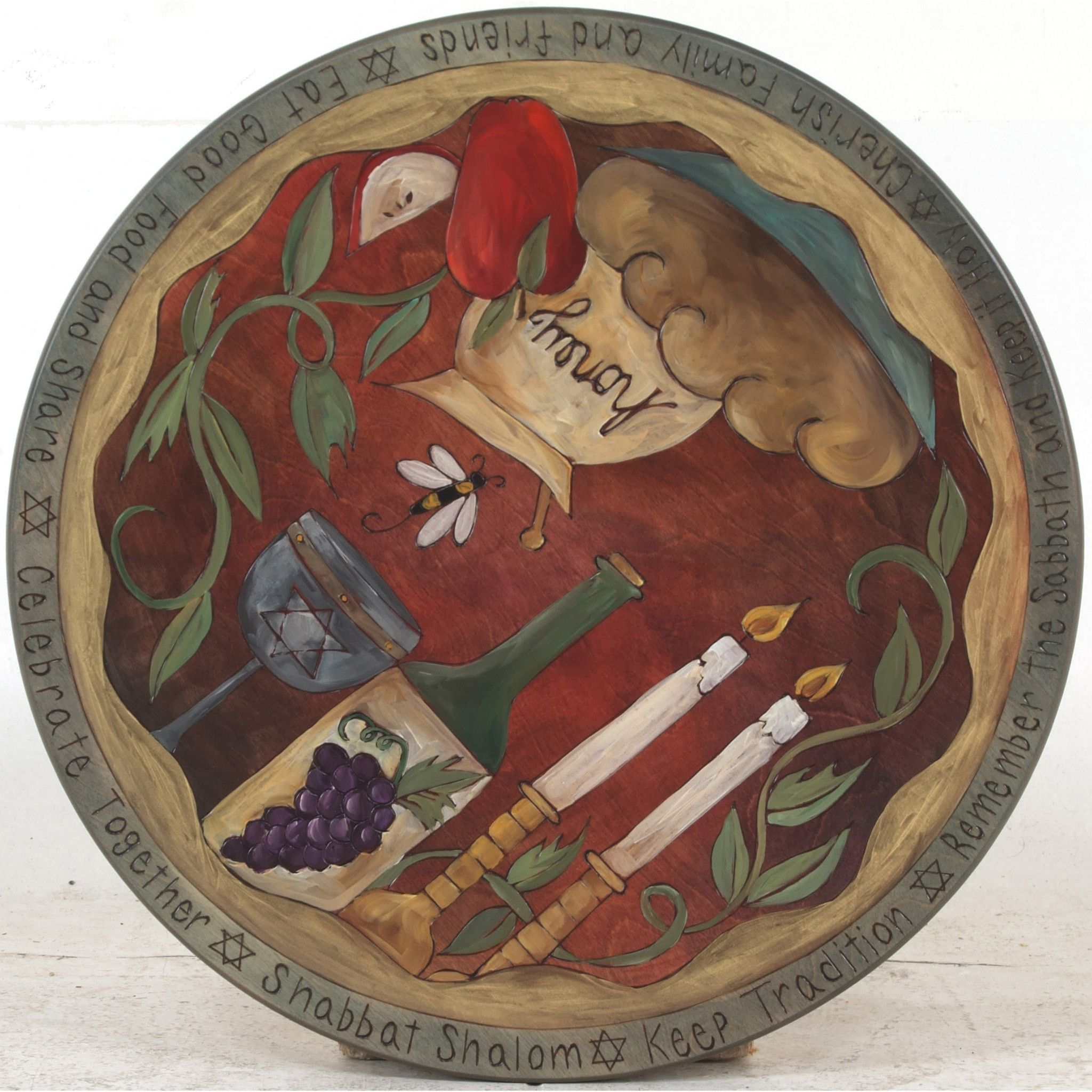 Sticks Lazy Susan Sticks Judaic Small Lazy Susan Lzy001S33198 Artistic Artisan
