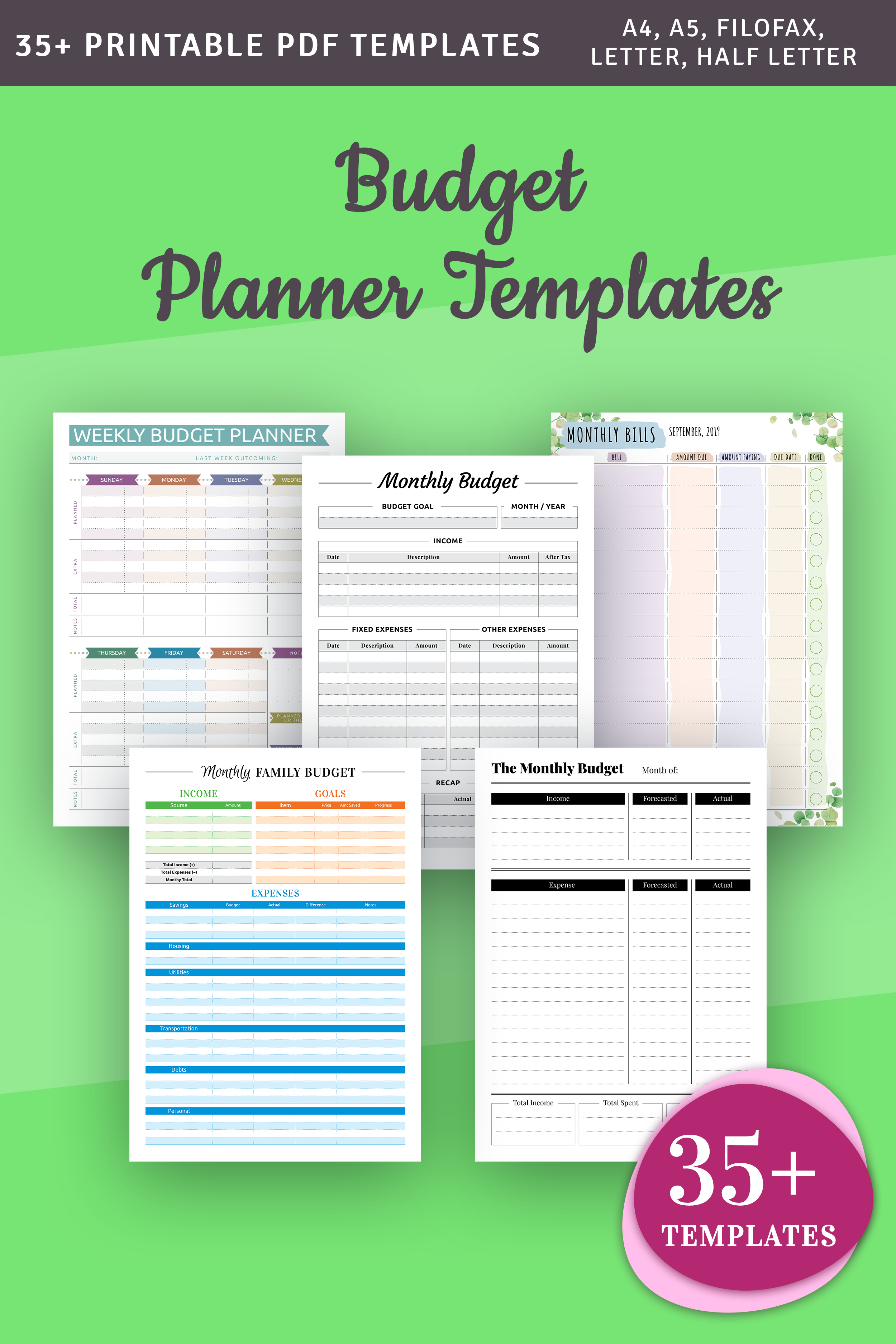 Printable Budget Templates