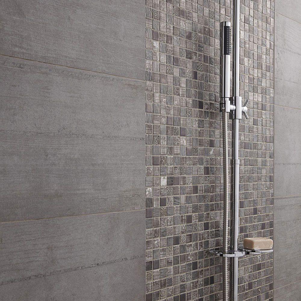 détail douche à l\'italienne Mosaïque de salle de bain | Salle de ...