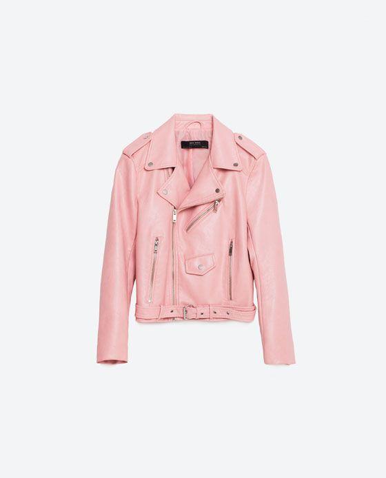 nueva los recién llegados busca lo último Imagen 8 de CAZADORA EFECTO PIEL de Zara | Biker Jackets <3 ...