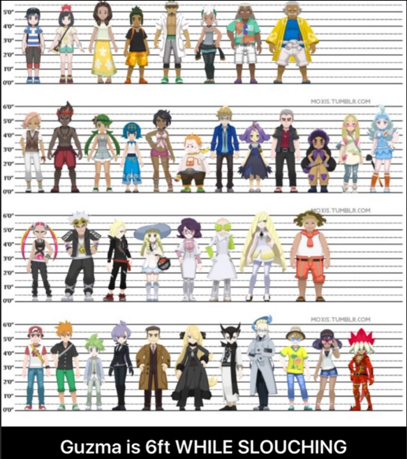 When you realize you're the same height as half of these characters
