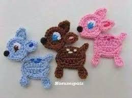 Resultado De Imagen Para Apliques A Crochet Para Bebes Animales De Ganchillo Adornos De Ganchillo Ganchillo