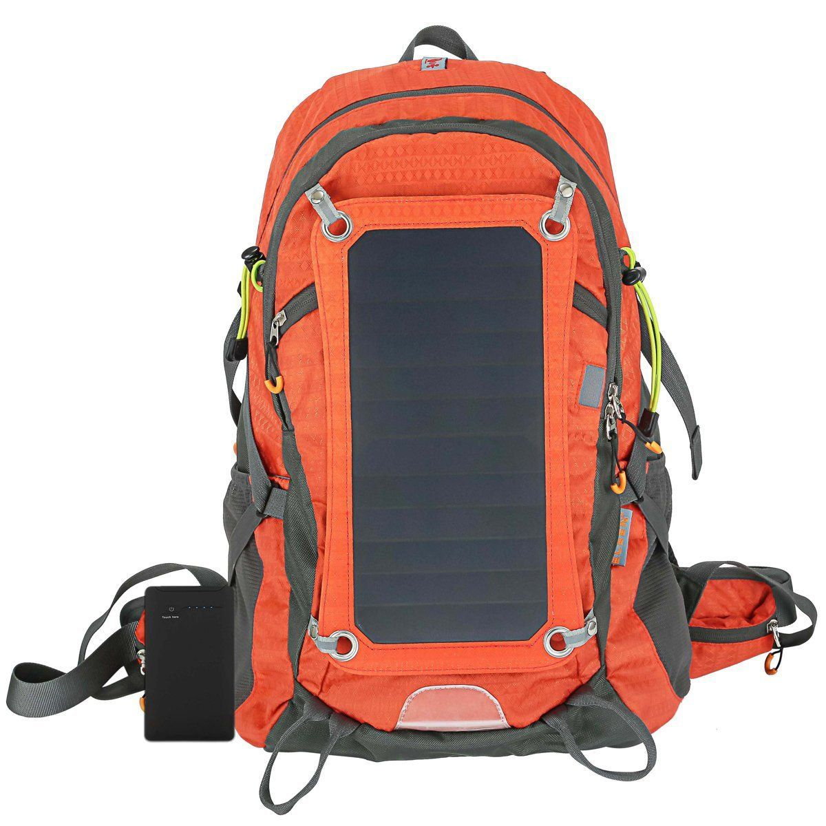Solar Charger Internal Frame Backpack Hiking Camping Backpacks with ...