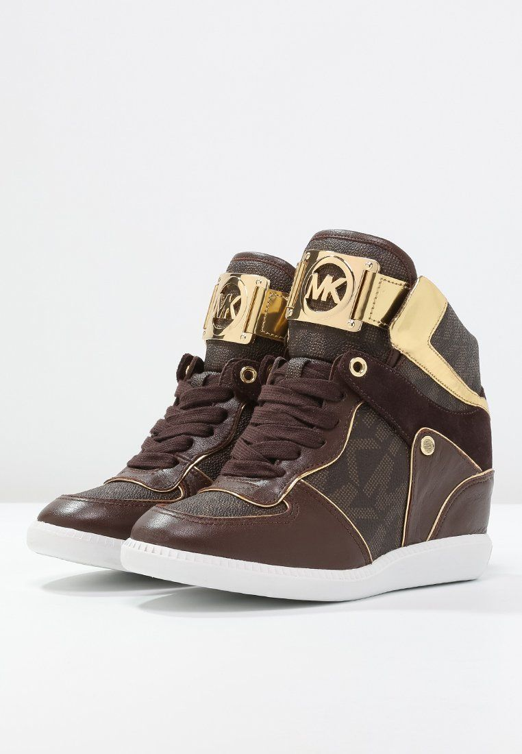 a44b462038e MICHAEL Michael Kors NIKKO - Sneakers hoog - brown - Zalando.nl ...