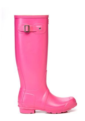 Chase the gray days away with these hot pink boots.