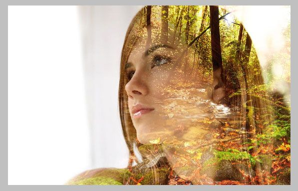 How to make double exposure photos in PS
