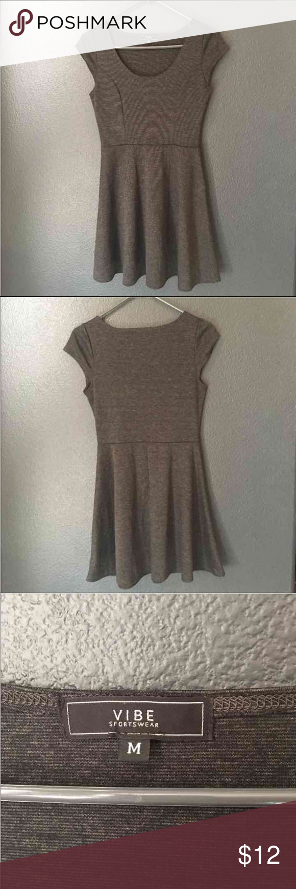 Dark Grey Vibe Sportswear dress Like new Vibe sportswear super cute dress. Size M Vibe Dresses Mini