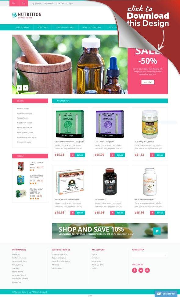 Responsives Magento Theme für Reinigung | Site design