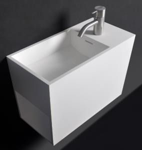 Fontein toiletfontein fonteinmeubel badkamer m pinterest solid surface - Toilet wastafel ...